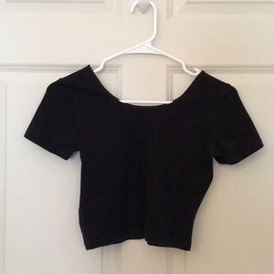 American Apparel cotton black crop top